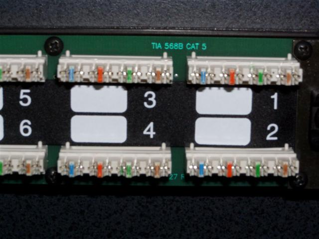 Just acquired a 568b patch panel how to wire with my 568a network and it isnt color coded very well as you can see im not sure on which side of the colored part the striped wire of that color goes swarovskicordoba